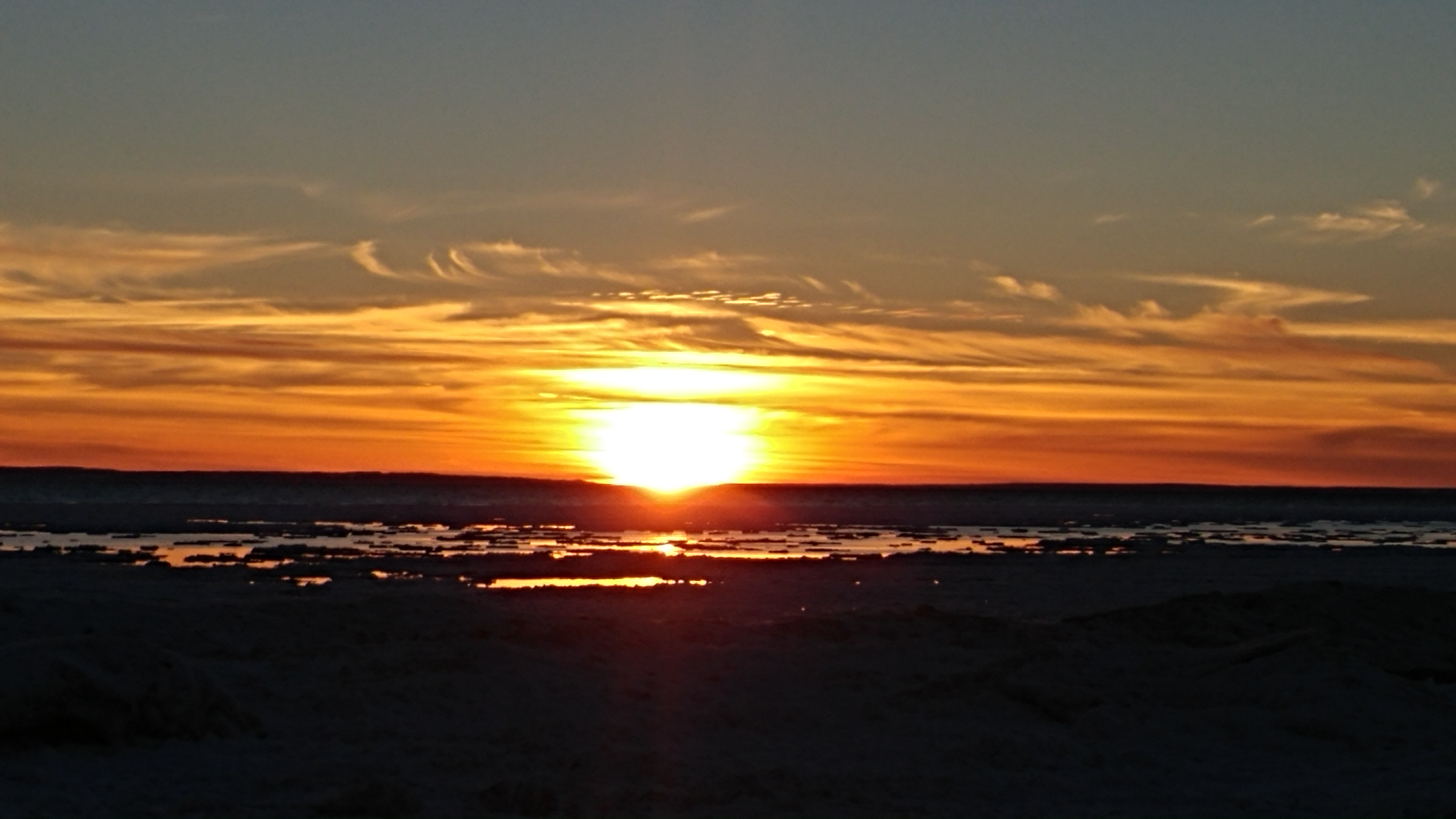 Cawaja Sunset Over the Ice Flow, Winter 2019 Photo by John Vessio
